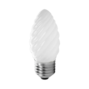 Incandescente Vela Torcida 25W 2.700K  E27 – IS22527  (Sílica)